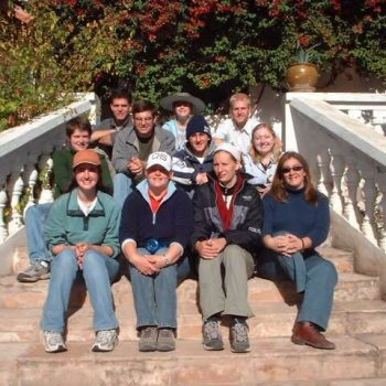 Family at the stairs, Sucre, Bolivia