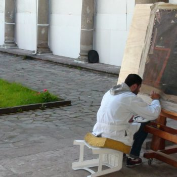 Drawing a painting, Quito, Ecuador