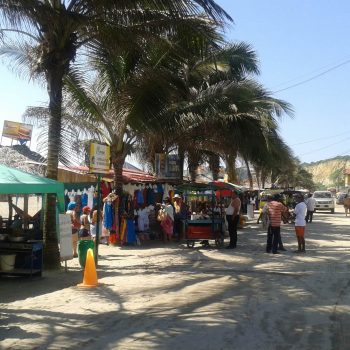 Sale stalls at the beach, Quito, Ecuador