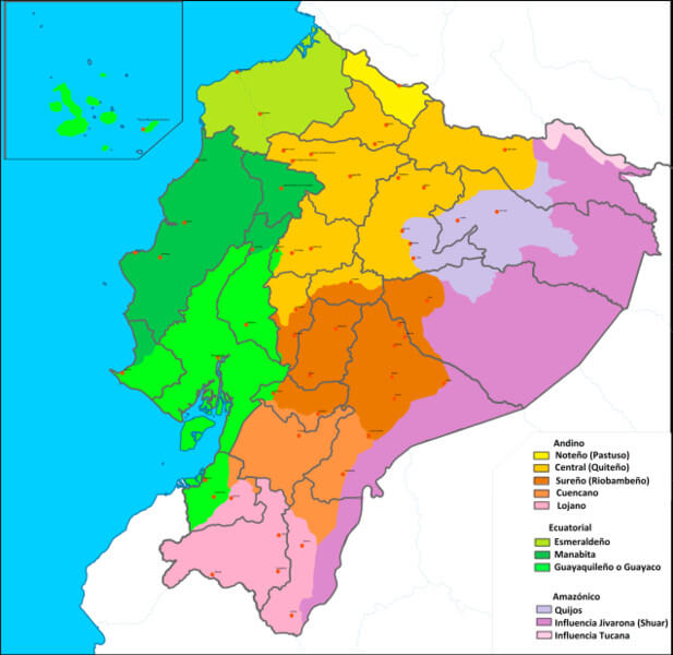 Spanish dialects in Ecuador