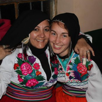 Student wearing traditional dress, Sucre, Bolivia