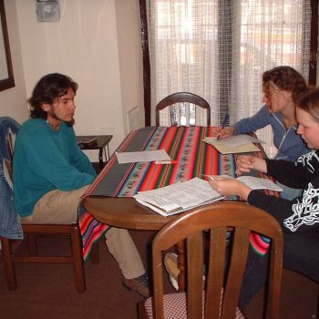 Students doing homework, Sucre, Bolivia