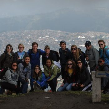 Students posing, Quito, Ecuador