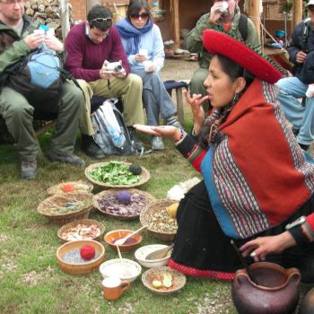 Tasting traditional food, Cusco, Peru