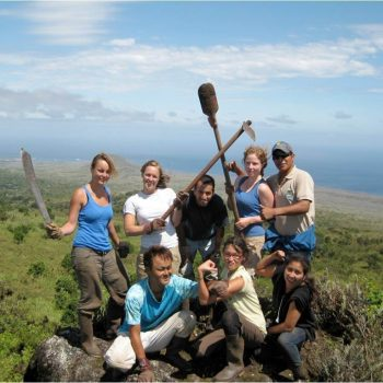 Volunteers group in Galapagos Island, Quito, Ecuador
