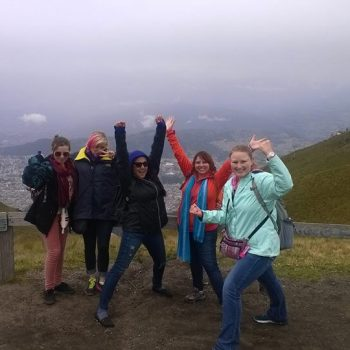 Students group in Quito