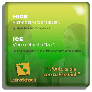 "Spanish learning pill ""Hice & Ice"""