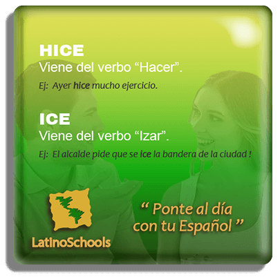 Spanish learning pill Hice & Ice
