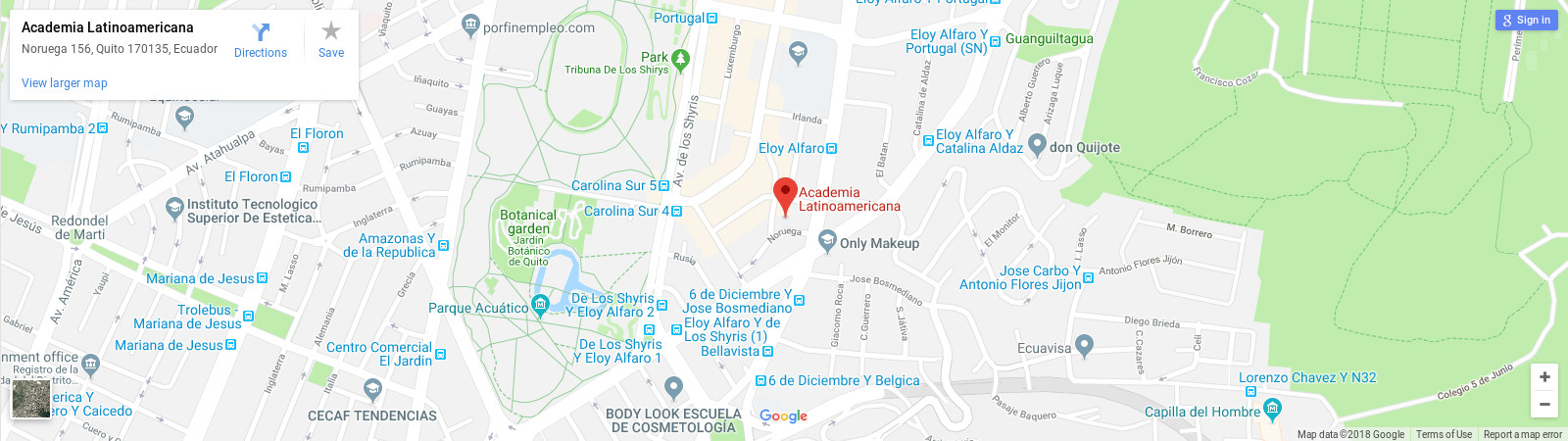 Academia Latinoamericana Spanish school in Quito location map