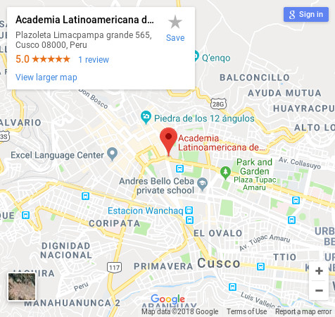 Academia Latinoamericana Spanish school in Sucre location map