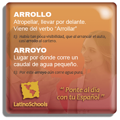 "Spanish learning pill ""Arrollo & Arroyo"""