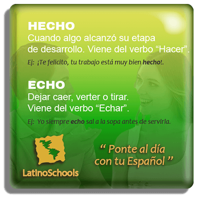"Spanish learning pill ""Hecho & Echo"""