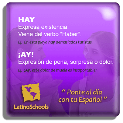 "Spanish learning pill ""Hay & Ay!"""